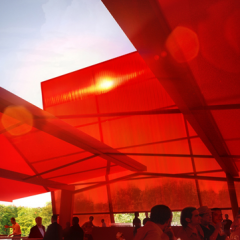 Interior view of Jean Nouvel's design for the 2010 Serpentine Pavilion