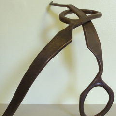 "Bronze sculpture by Delona Wardlaw for ""Scisors Obession: Figure/Figuration"", 2010"