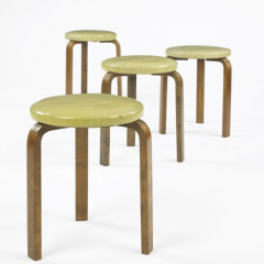 L-leg stools, set of four - Alvar Aalto - Wright 2009