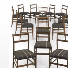 A Set of Fifteen 'Superleggera' Chairs by Gio Ponti