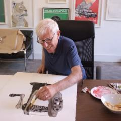 Bob Gill at Print Club London