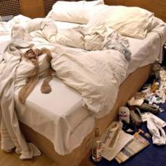 My Bed, by Tracey Emin, sparked wide debate as part of the Turner Prize exhibition in 1999. Photograph: Nils Jorgensen/Rex Featu