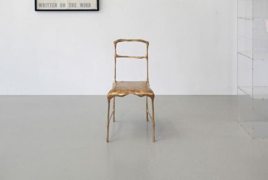 Frank Tjepkema, Recession Chair II, 2012, bronze, edition of 8