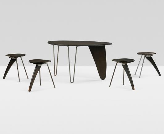 ISAMU NOGUCHI rare and important Rudder dining suite from the Hasting Estate estimate: $150,000–200,000
