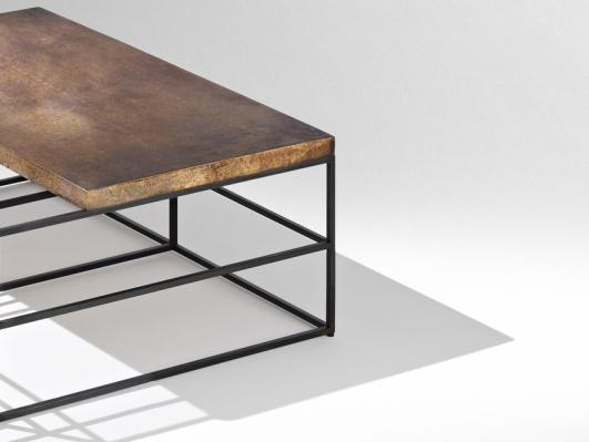 CAGES - coffee table (detail) - Nucleo_Piergiorgio Robino + Gabriele Bagnoli - polished and patinated bronze, iron -  2013