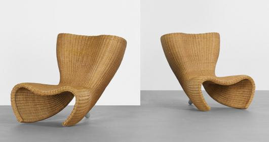 MARC NEWSON Wicker chairs, pair estimate: $7,000–9,000