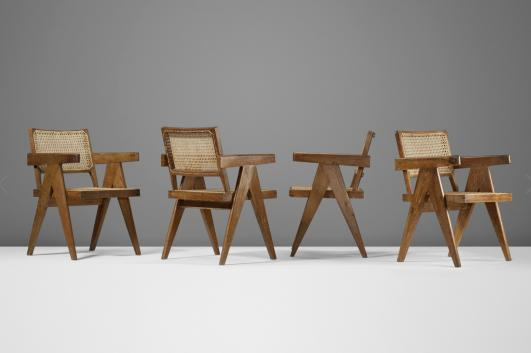 set of four Office armchairs from Chandigarh estimate: $10,000–15,000