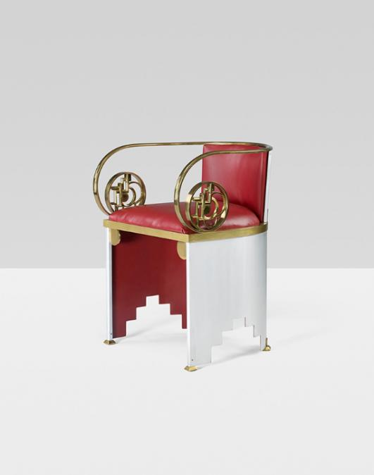 WALTER VON NESSEN Important and rare chair from the International Exposition of Art and Industry estimate: $200,000–300,000