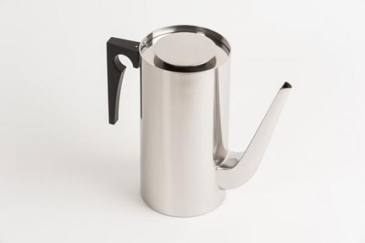 Cylinder Line Coffee Pot designed by Arne Jacobsen added by Kenneth Grange [image: Dominic French]
